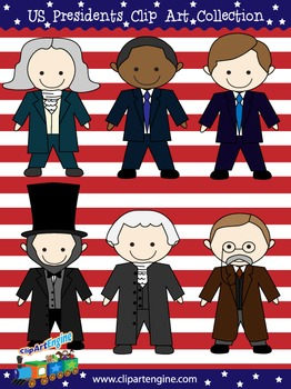U.S. Presidents Clip Art Collection.