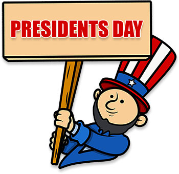 Free Presidents Day Animations.