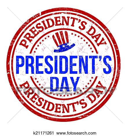 Presidents Day stamp Clipart.