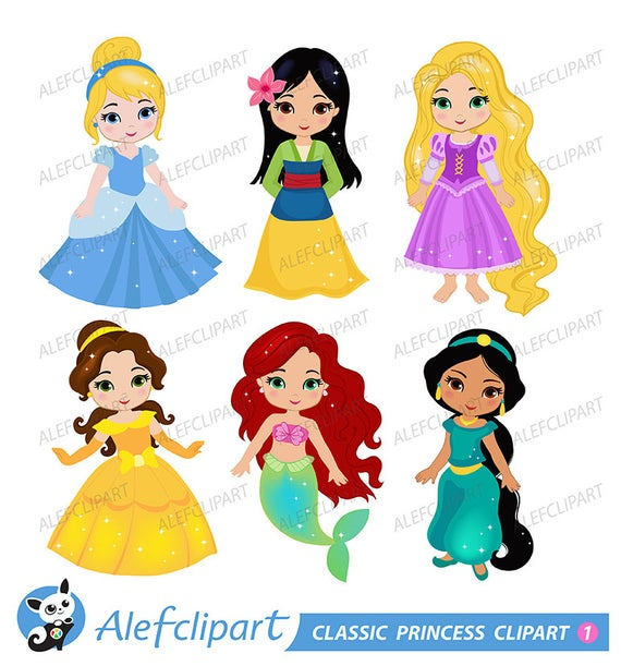 Classic Princess Digital Clipart: