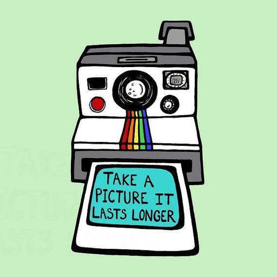 Retro Polaroid Camera.