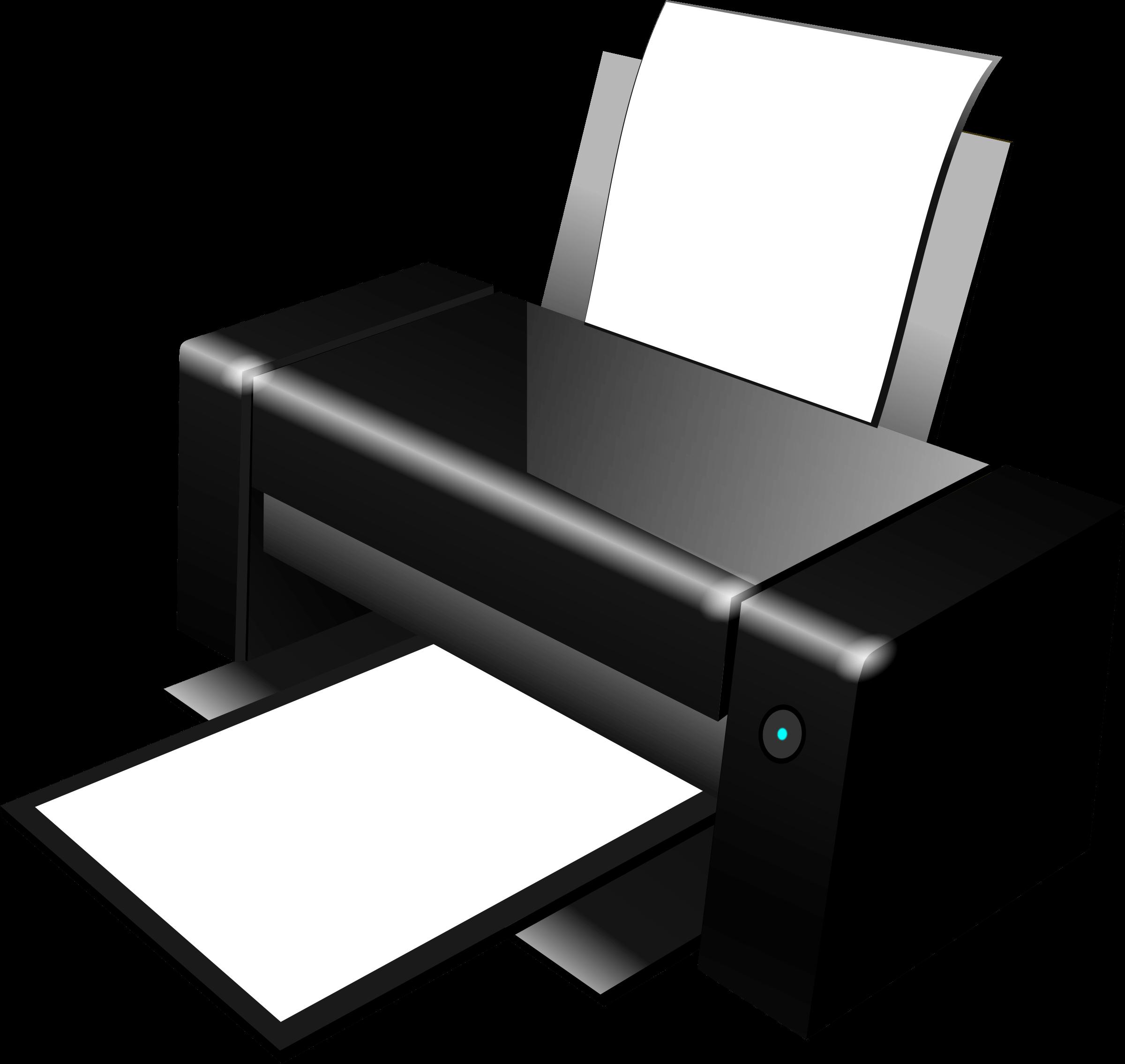 Black Clipart Printer transparent PNG.
