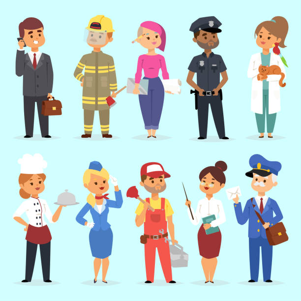 Best Different Professions Illustrations, Royalty.