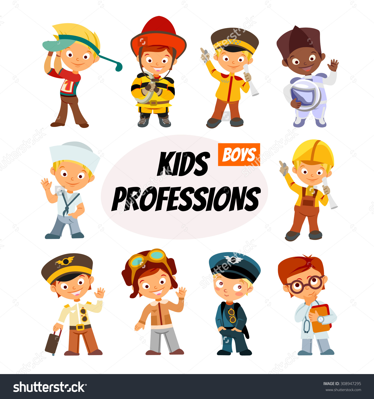 Various professions for little.