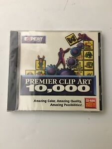 Details about Premier Clip Art 10,000 (PC, 1998) DOS 3.1 + Windows 3.1 / 95  New and Sealed.