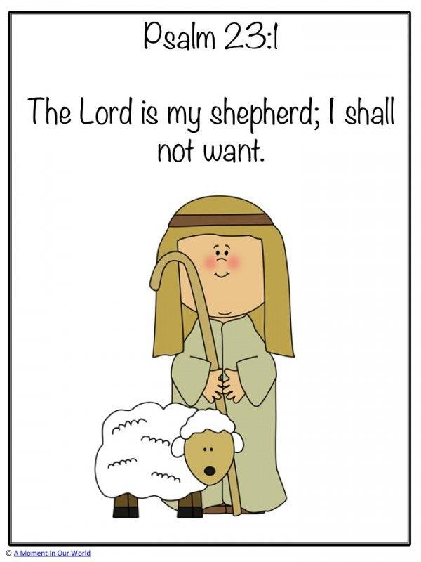 Monday Memory Verse: Psalm 23:1.