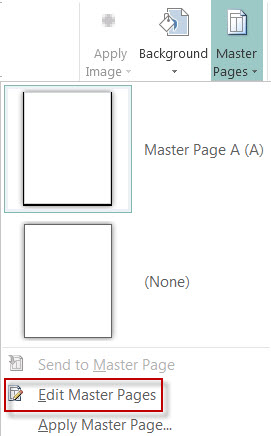 Add or remove a page border in Publisher.