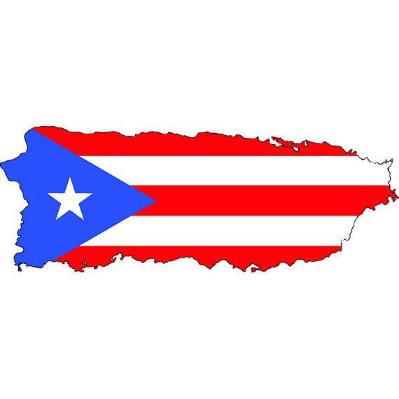 Puerto Rico Rican San Juan Island Country National Nation Flag.