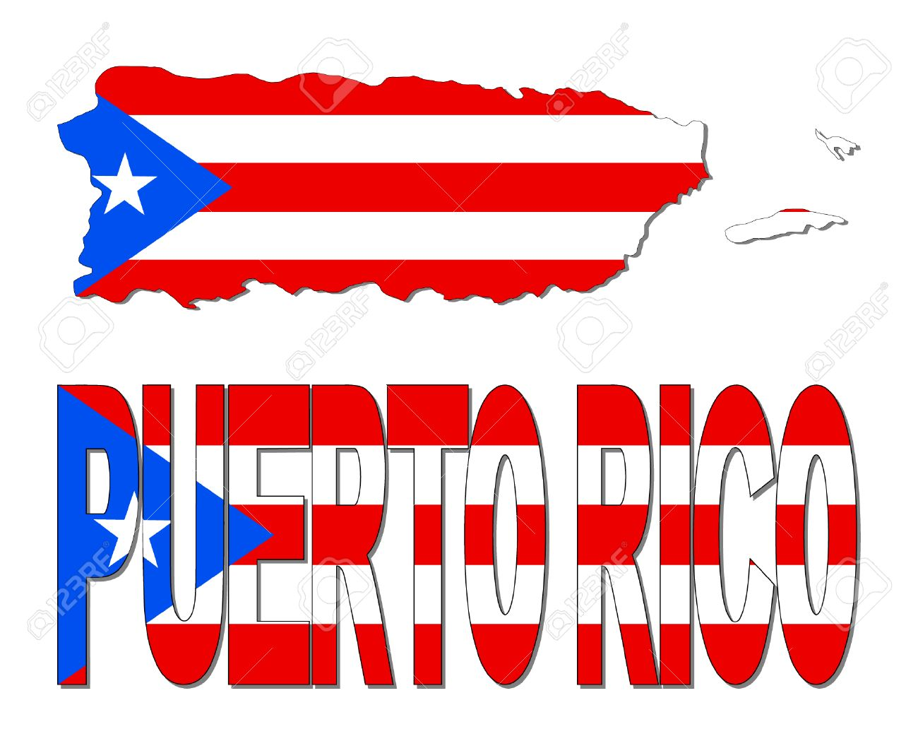Puerto Rico Map Clipart & Free Clip Art Images #25991.