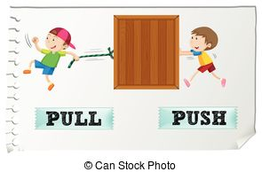 Push pull Clipart and Stock Illustrations. 1,038 Push pull vector.