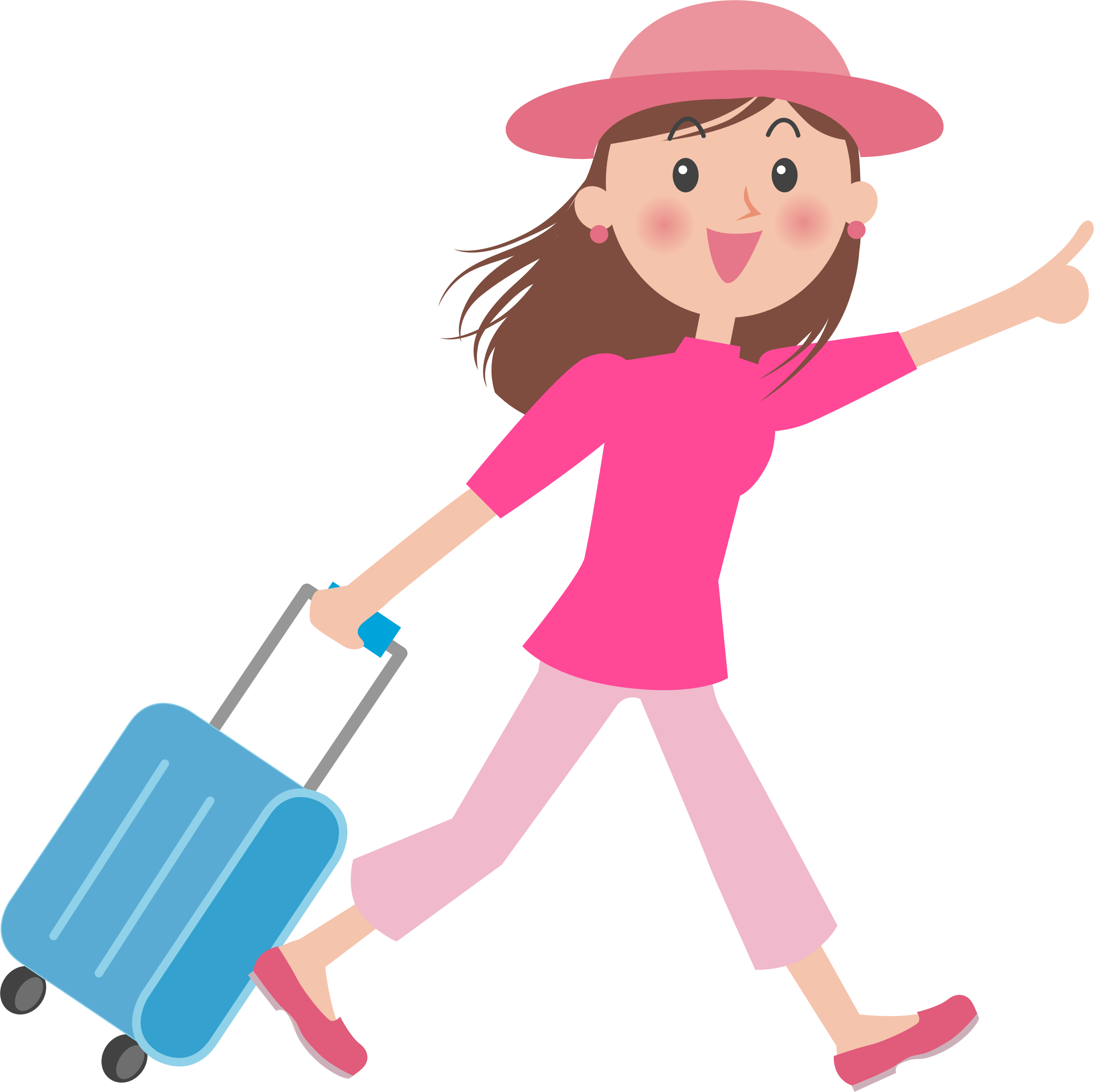 Luggage Clipart lady 9.