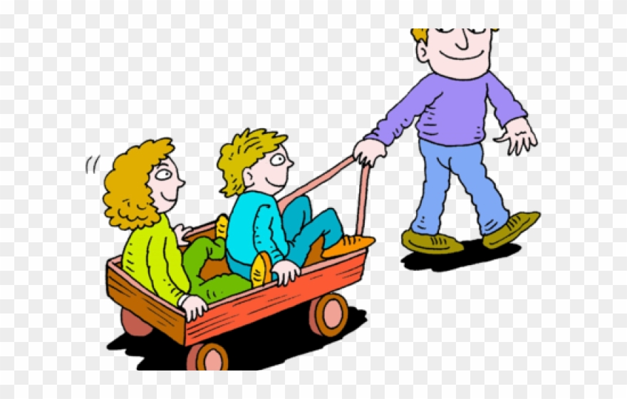 Wagon Clipart Two Kid.