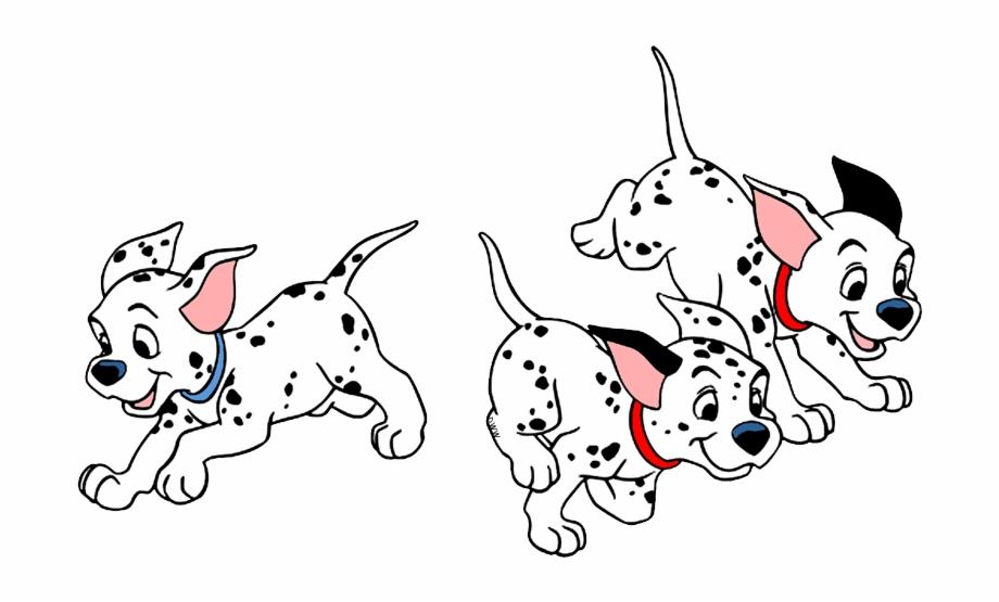 101 Dalmatians Puppies Clip Art.