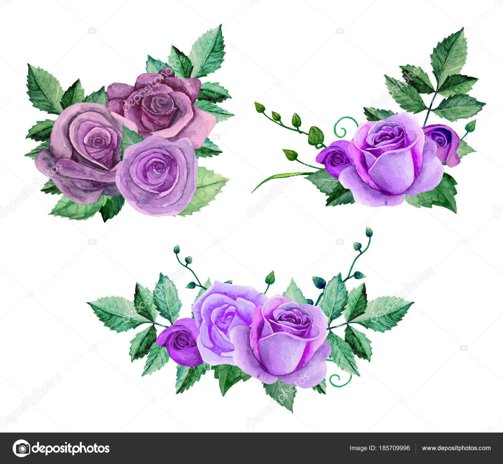 Clipart: purple roses.