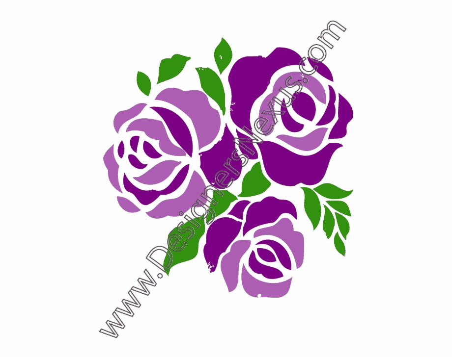 Purple Rose Clipart Three Rose, Transparent Png Download For Free.