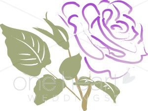 Purple Rose Clipart.