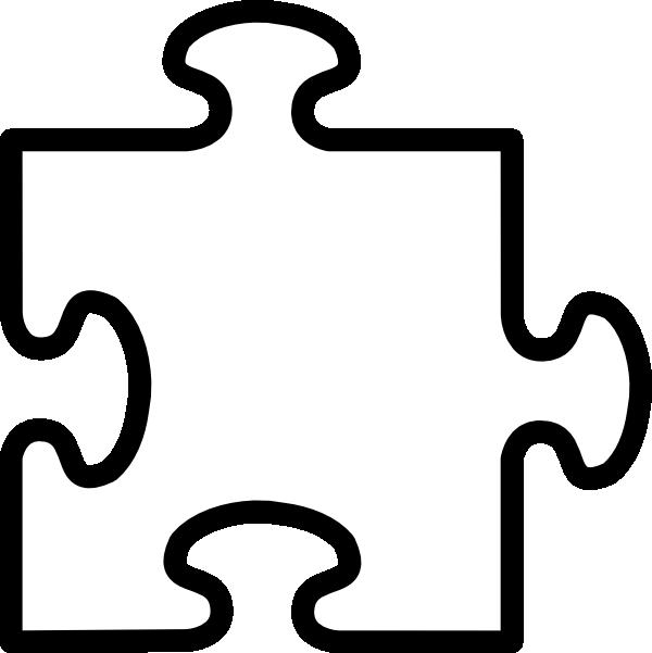 White Puzzle Piece Clip Art at Clker.com.