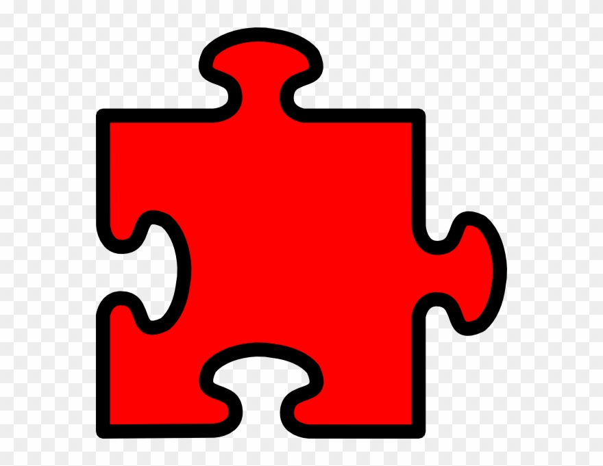 Red Puzzle Piece Clip Art At Clipart Library.