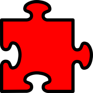 Red Puzzle Piece Clip Art at Clker.com.
