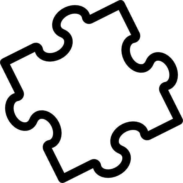 Puzzle piece template ideas on puzzel games clipart.