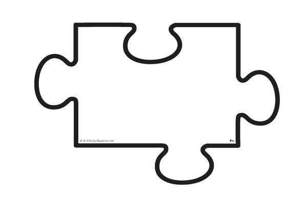 Blank Puzzle Piece Template Jigsaw Individual Size Pieces Make Up Puzzl.