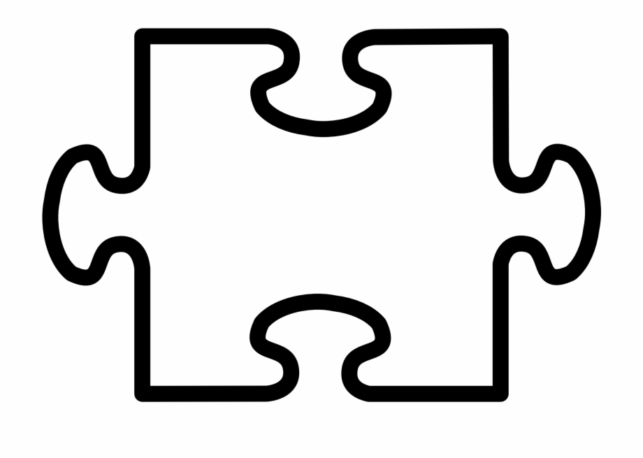 2 Puzzle Pieces Template, Transparent Png Download For Free #4512103.