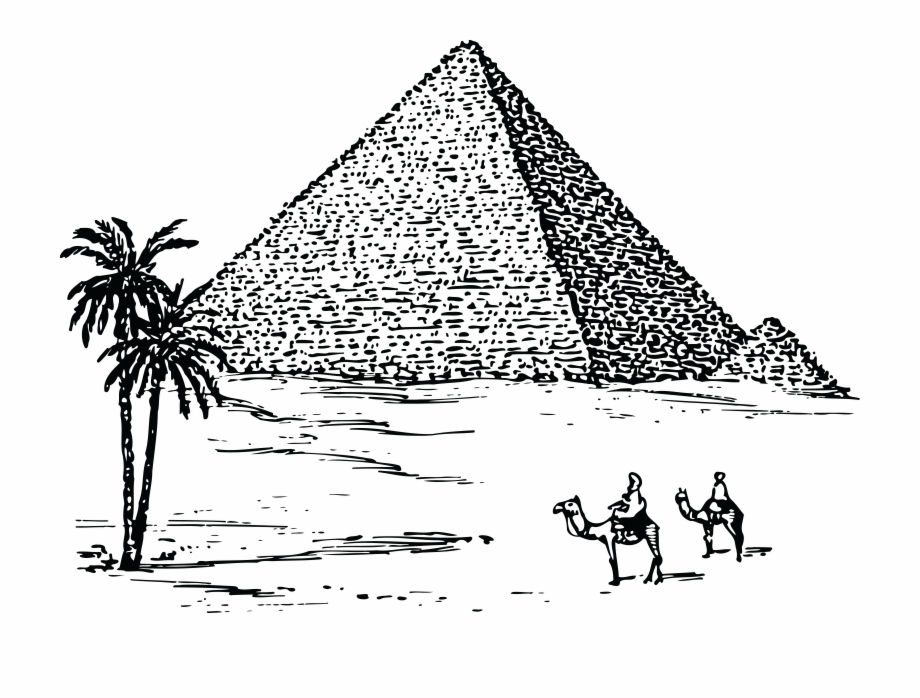 Free Clipart Of The Pyramids Of Giza.