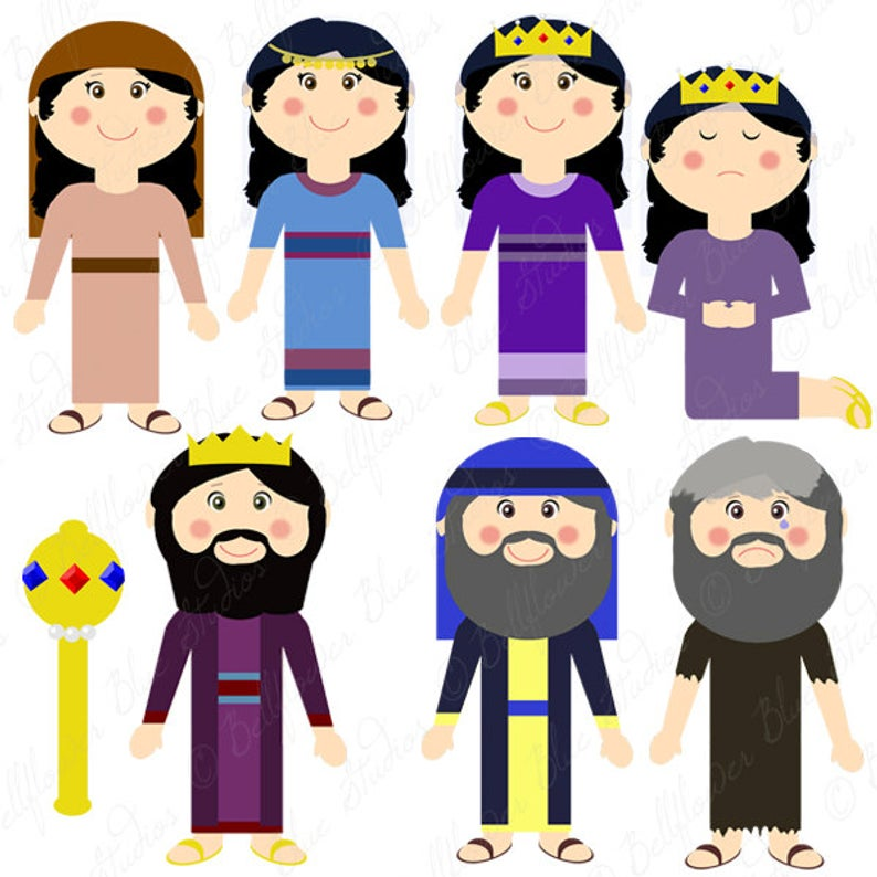Queen Esther Digital Clipart (full color version).