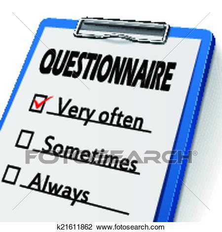 Questionnaire clipboard Clipart.