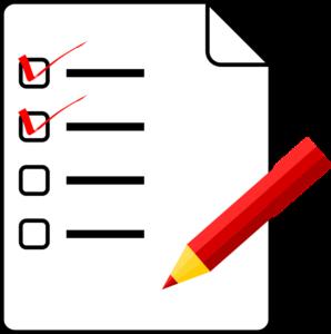 Questionnaire Clipart.