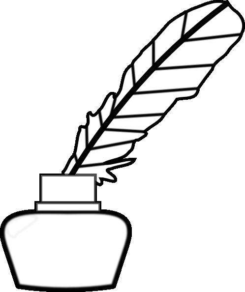 White Quill pen clip art.