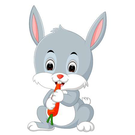 526 Rabbit Eating Carrot Stock Illustrations, Cliparts And Royalty.