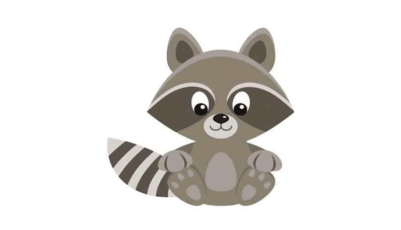 FREEBIE: Raccoon Clip Art.