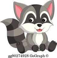 Raccoon Clip Art.