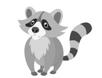 Free Raccoon Clipart.