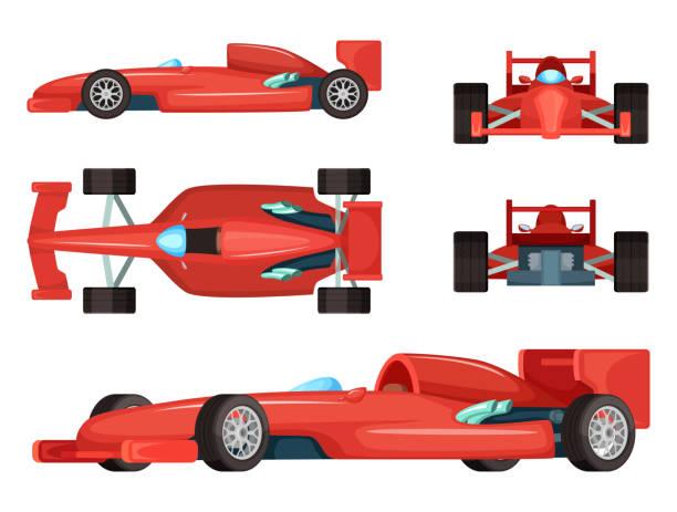 Best Race Car Illustrations, Royalty.