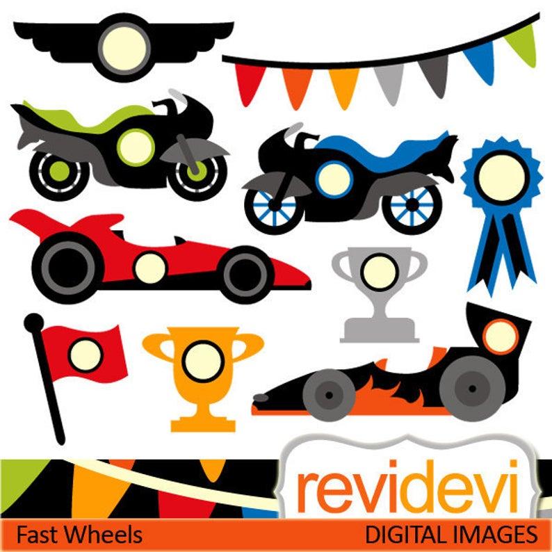 Race cars clip art.