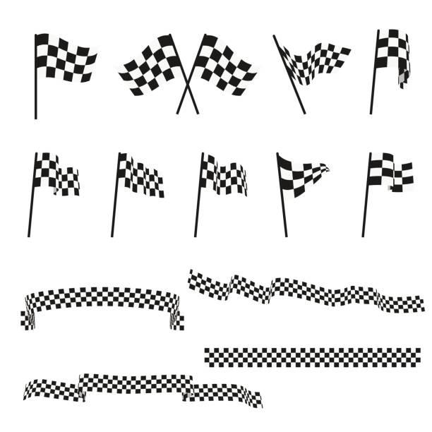 Best Checkered Flag Illustrations, Royalty.