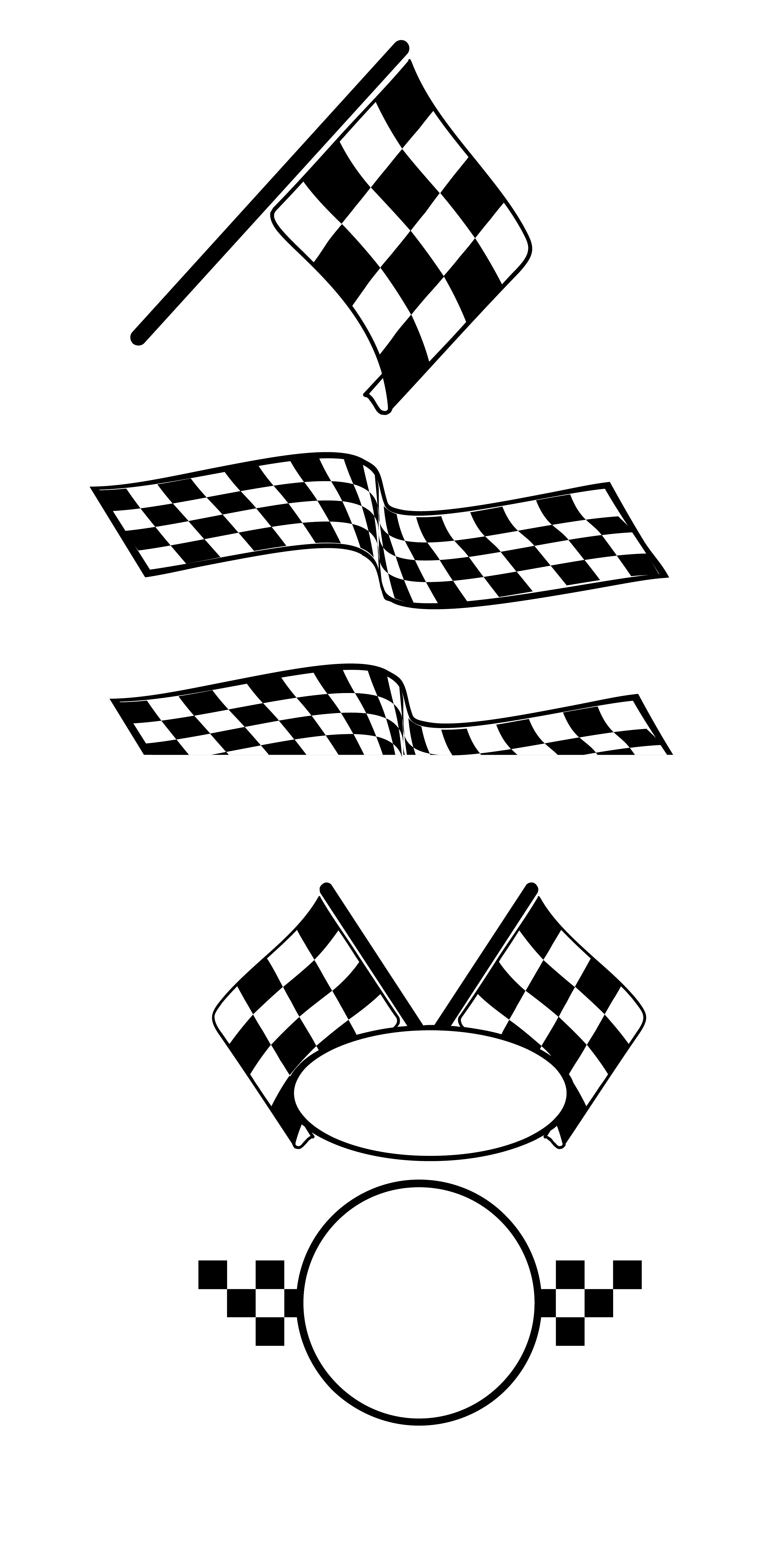Car race flags clip art free download png files, Free CLip Art.