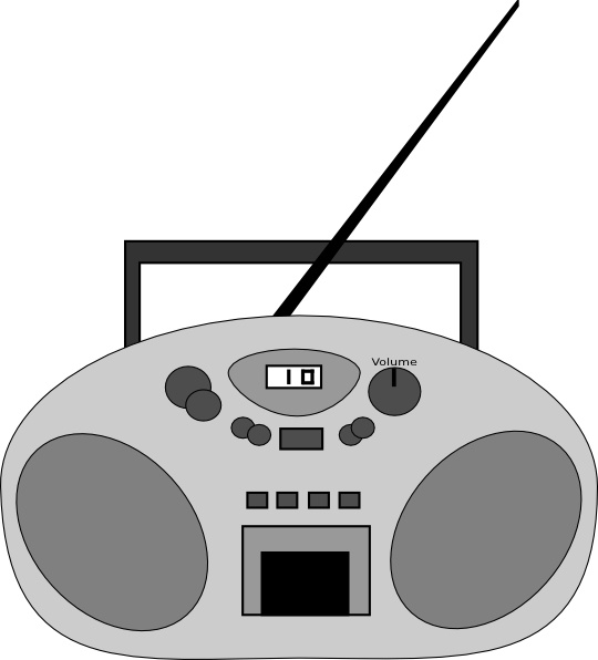 Radio clip art Free vector in Open office drawing svg ( .svg.