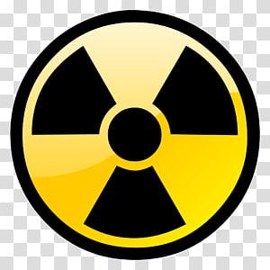 Radioactive decay Radiation Hazard symbol, symbol transparent.