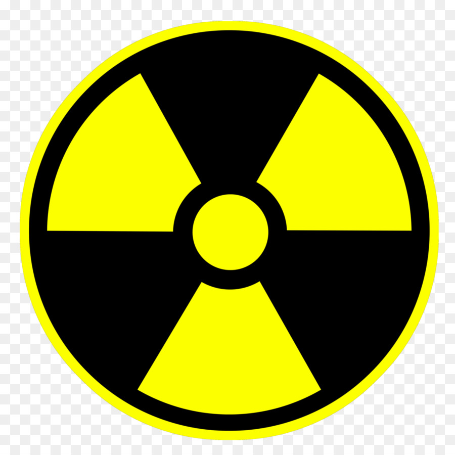 Hazard symbol Nuclear power Radioactive decay Sticker Decal.