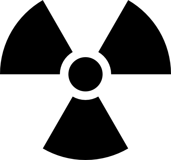 Radioactivity Sign clip art Free vector in Open office drawing svg.