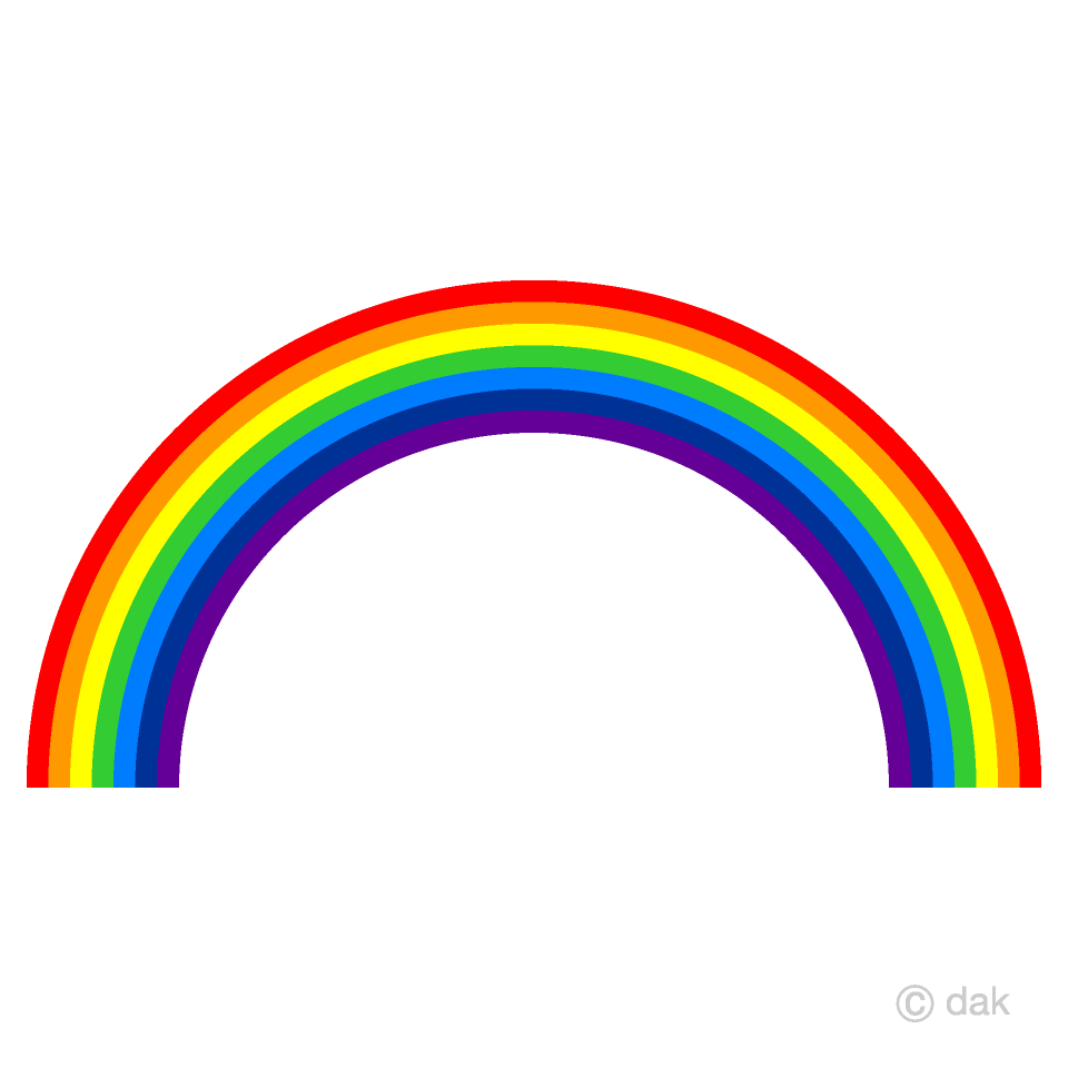 Rainbow Clipart Free Picture|Illustoon.