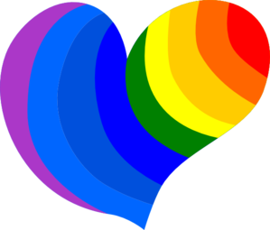 Rainbow Heart Clip Art at Clker.com.