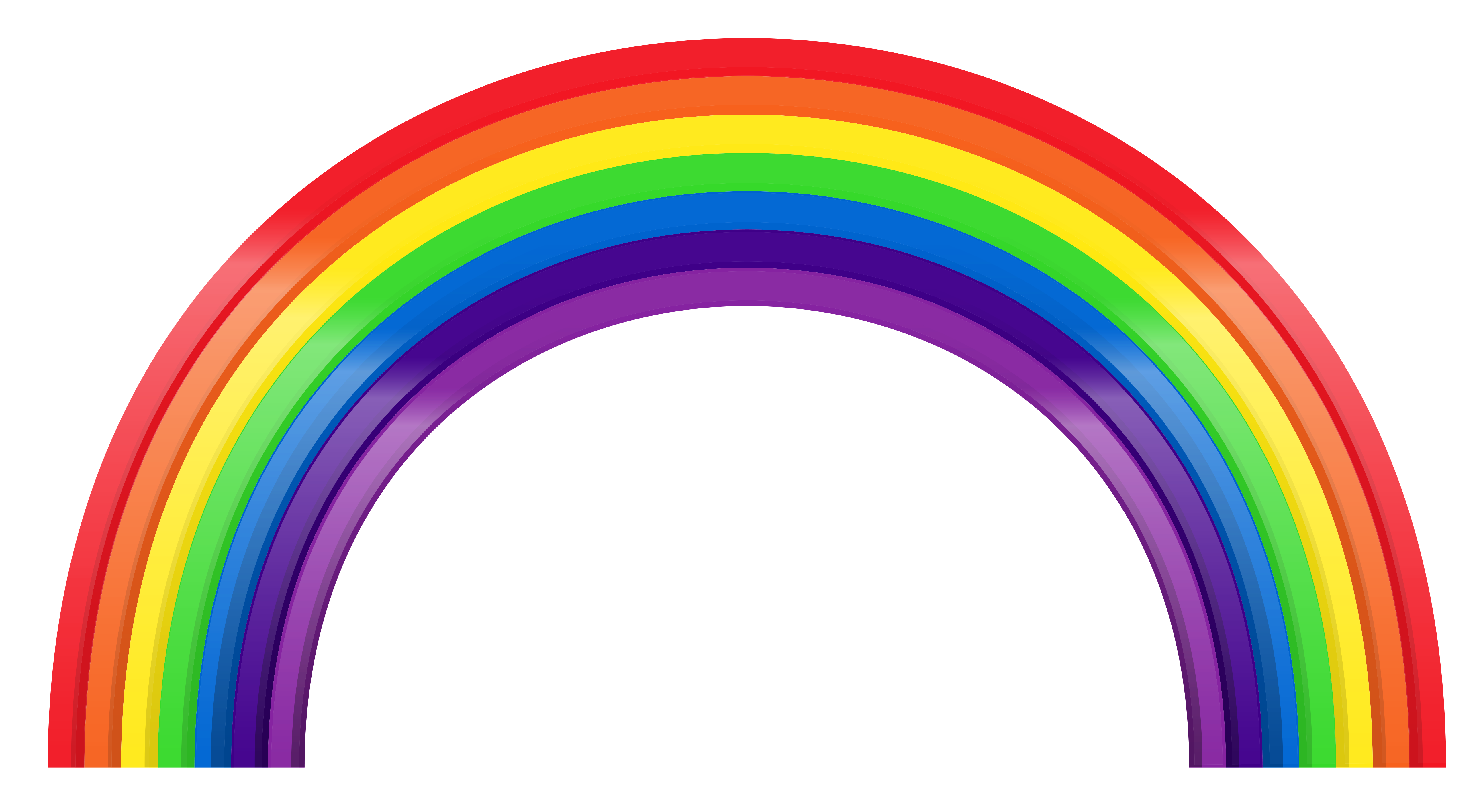 Large Rainbow Transparent PNG Clipart.