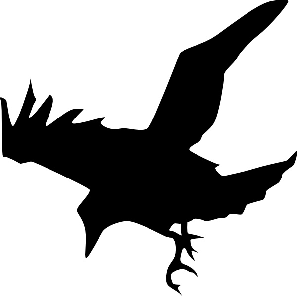 Raven Silhouette clip art Free vector in Open office drawing svg.