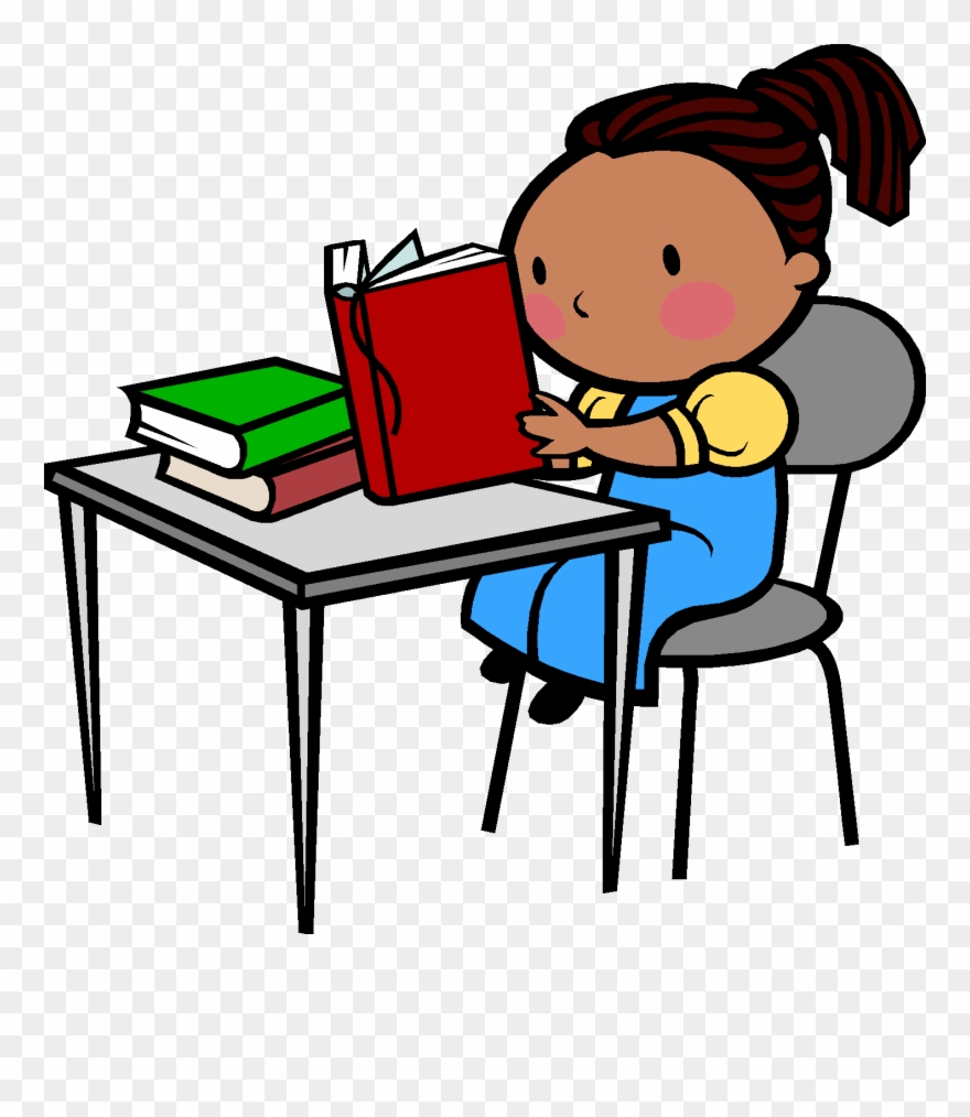 Desk Clipart Reading And Writing.