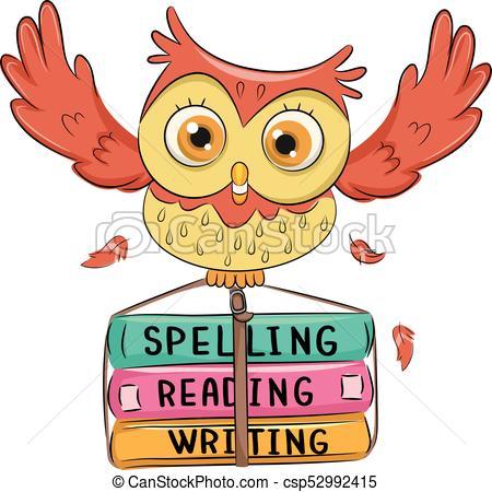 Owl Book Spell Read Write.