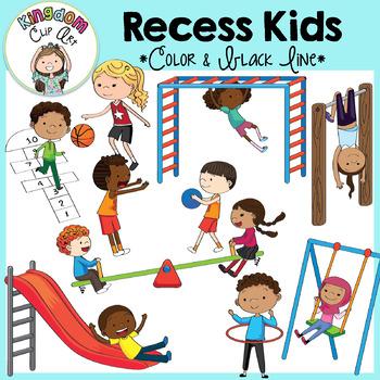 Recess Kids Clip Art.